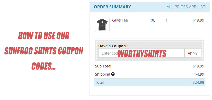 how to use sunfrog shirts coupons